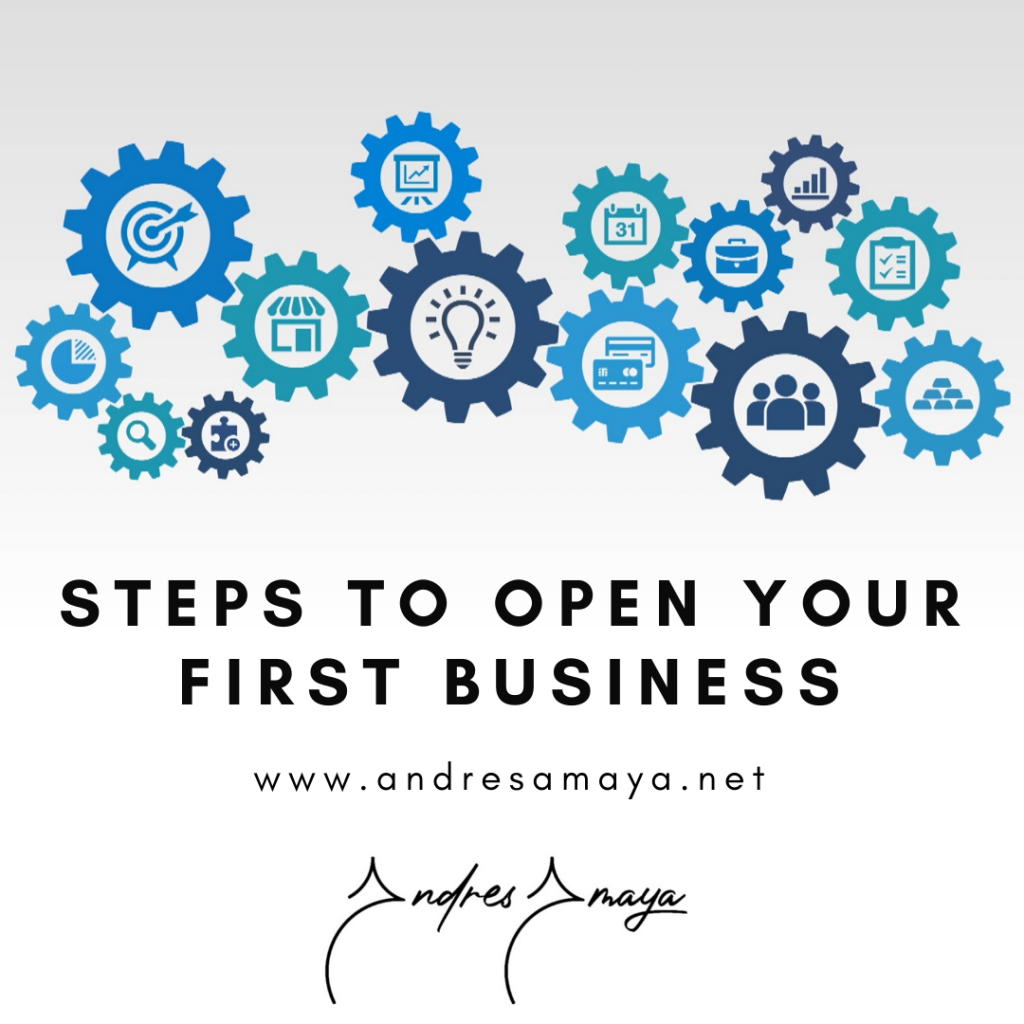 STEPS TO OPEN YOUR FIRST BUSINESS